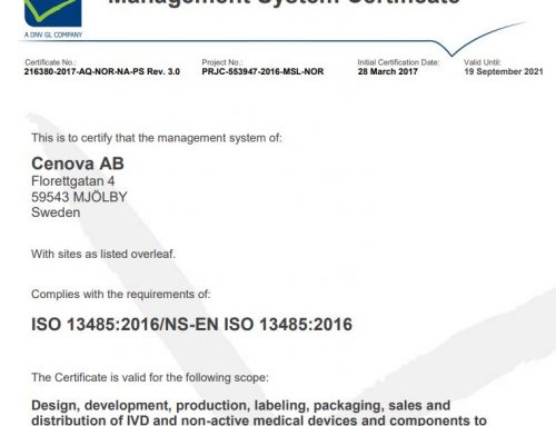 Recertification towards ISO 13485:2016 – A great success